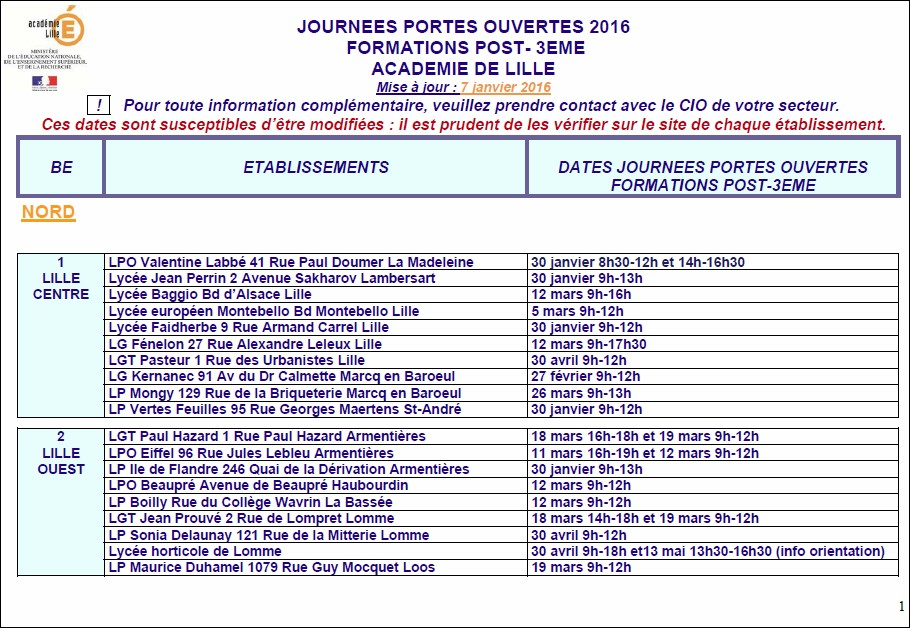 Journ es portes ouvertes post 3 me 2016 - Portes ouvertes lycee faidherbe lille ...